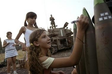 Israeli children sending Hate & Death messages