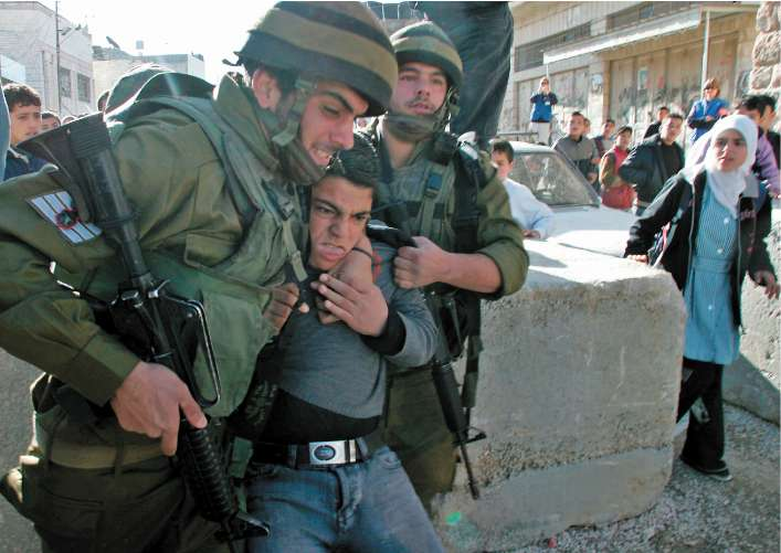 Palestinian Child dragged to torture - Copy