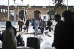 Tunisians leaving Libya at the Ras Jdir border post