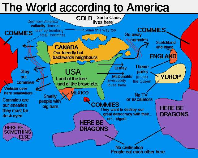 American Foreign Policy Map