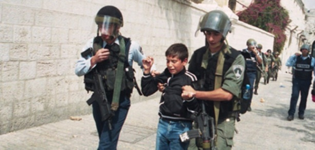 Nazi israelis arresting children